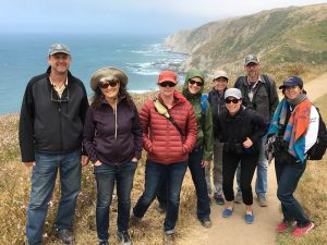 Photo op near Windy Gap, Tomales Point. (Photo by Allison Kidder)
