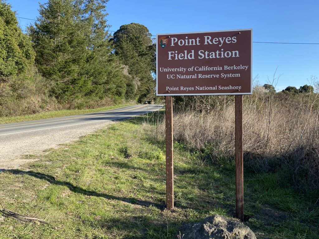 Point Reyes Field Station sign along Highway 1